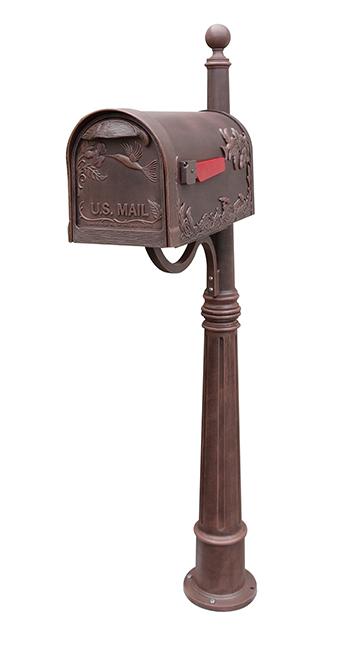 Hummingbird Mailbox With Locking Insert And Post